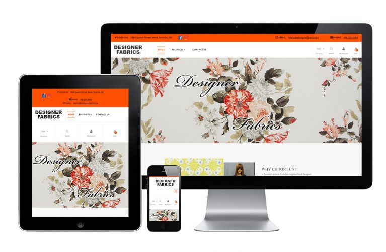 Designer Fabrics - view 1 / Portfolio / Khaztech - Web design and development studio