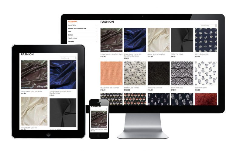 Designer Fabrics - view 3 / Portfolio / Khaztech - Web design and development studio