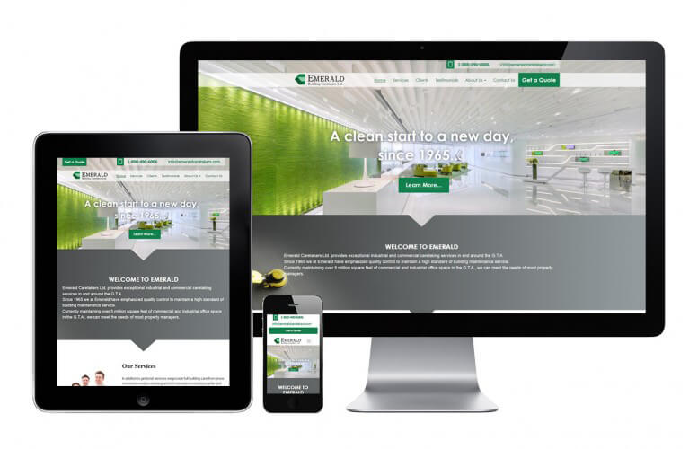 Emerald Building Caretakers Ltd - view 1 / Portfolio / Khaztech - Web design and development studio