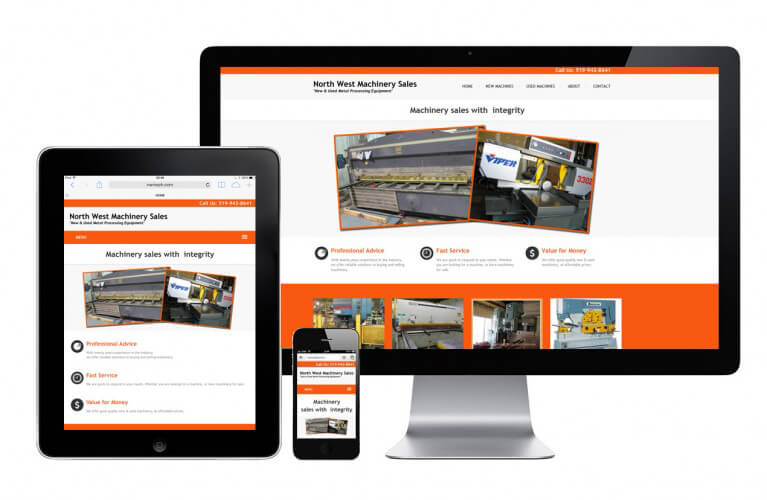 North West Machinery Sales - view 1 / Portfolio / Khaztech - Web design and development studio