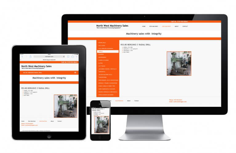 North West Machinery Sales - view 3 / Portfolio / Khaztech - Web design and development studio