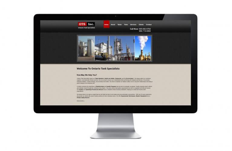 Ontario Tank Specialists - view 1 / Portfolio / Khaztech - Web design and development studio
