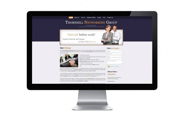 Thornhill Networking Group - view 1 / Portfolio / Khaztech - Web design and development studio