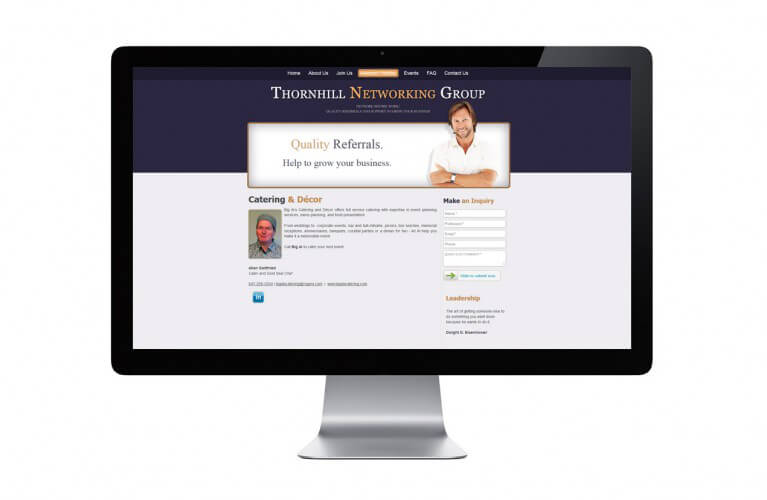 Thornhill Networking Group - view 3 / Portfolio / Khaztech - Web design and development studio
