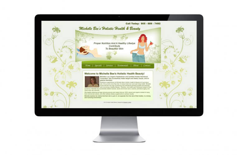 Michelle Bee Holistic Health and Beauty - view 1 / Portfolio / Khaztech - Web design and development studio