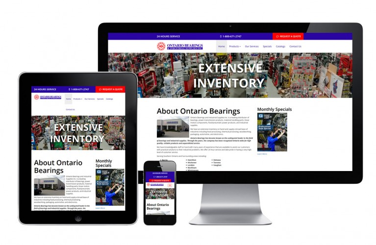 Ontario Bearings - view 1 / Portfolio / Khaztech - Web design and development studio